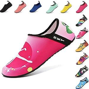 VIFUUR Water Sports Shoes Barefoot Quick-Dry Aqua Yoga Socks Slip-On For Men Women Kids Ballet-38/39