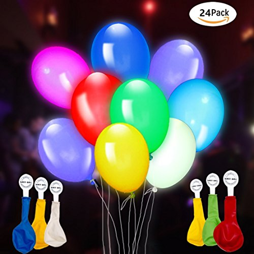 LED Light Up Balloons Blinking and Flashing Party Balloons with Clips Ideal for Birthday Bachelorette Celebrations School Activities Anniversary Wedding 3 packs 8 in 1 Mixed - How Glow A Party Make The Dark In To