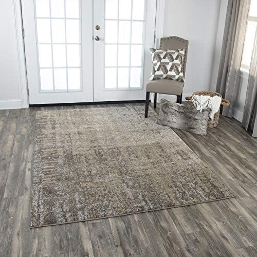 Rizzy Home Valencia Collection Polypropylene/Polyester Area Rug