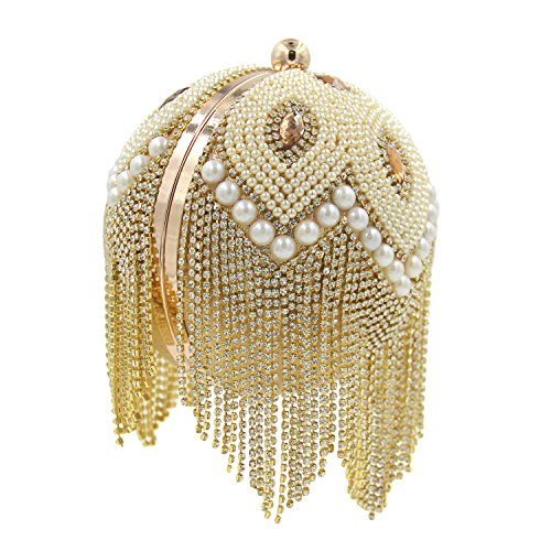 Flada - Cartera de mano para mujer Plateado plata Medium dorado