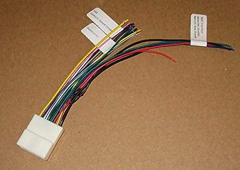 20-pin Subaru/Nissan Headunit/Radio Wiring Harness with Steering Wheel Switch wires - Steering Wheel Video Control Interface