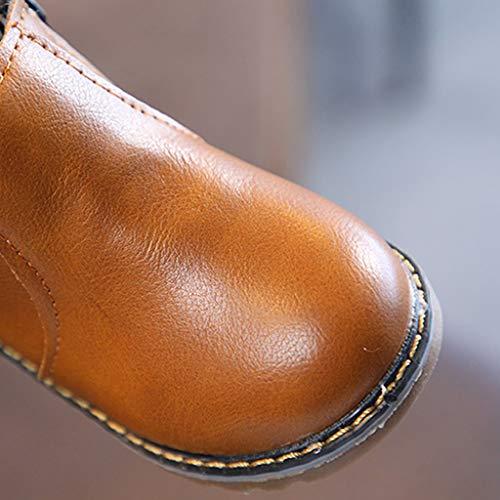 Dogeek Cremallera Invierno Chicas Y Naranja Gris De Botas Planos Niños negro Chicos Naranja Antiguos Martin Casual Para Zapatos wxxqX7drWB