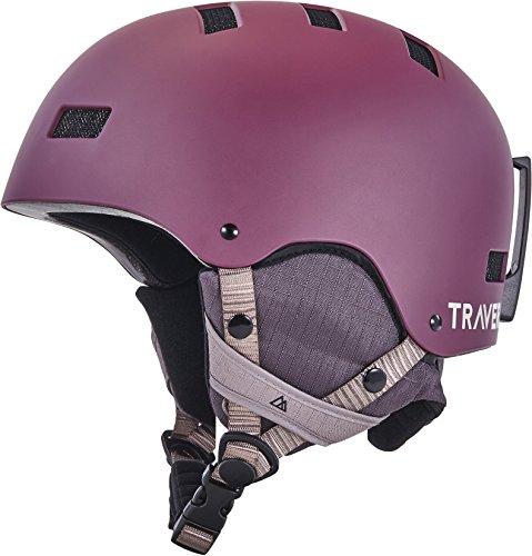 Traverse Sports Dirus Convertible Ski & Snowboard/Bike & Helmet, Matte Elderberry, Large (Bike Cycling Winter Helmet)