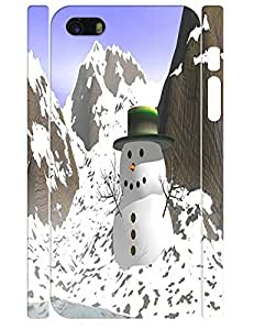 Creative Customized Funky Snowman Pattern Handmade Cell Phone Back Case for Iphone 5 5S
