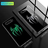 Marvel Iron Man Batman Venom Luminous Glass Phone Case for Samsung Galaxy S7 S8 S9 S10 e 5G Plus Note 9 8 Avengers Cover Funda