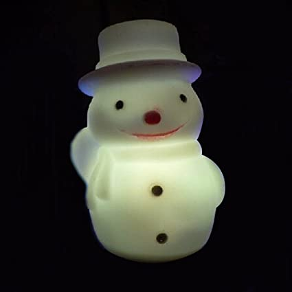 bargain house christmas snowman led artificial snowman with hat night lights lamp for christmas party ornaments