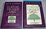 set of 2 rick warren books; the purpose driven life the purpose driven life journal what on earth am i here for? book journal