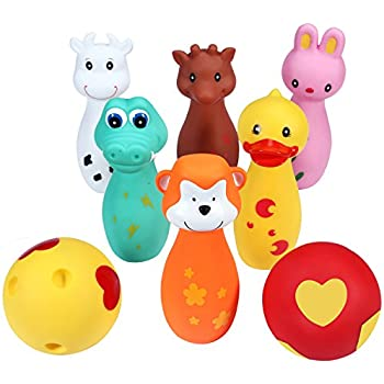 Svance Bowling Toy Set Cute Animal Friends Bowling Game for Kids, Toddlers, Preschoolers