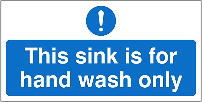 Signs kitchen clean /& Tidy A4 Self Adhesive GLOSSY Sticker