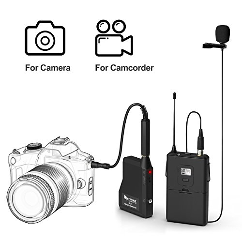 Wireless Microphone System,Fifine Wireless Microphone set with Headset & Lavalier Lapel Mics, Beltpack Transmitter&Receiver,Ideal for Teaching, Preaching and Public Speaking Applications.(K037B) - Image 5