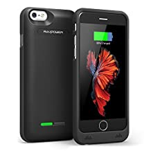 RAVPower 3000mah 2A Input Ultra Slim Battery Case Cover Backup Charger for iPhone 6 & 6S - Black