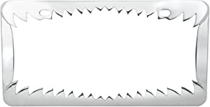 Grand General 60461 Chrome Shark Teeth License Plate Frame with 2 Holes