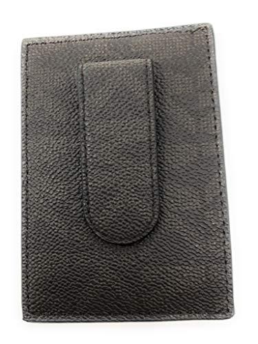 Michael Kors Brown Monogram Leather Card Case Money Clip Mini -