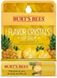 Burt's Bees Flavor Crystals Natural Moisturizing Lip Balm, Tropical Pineapple (Pack of 2)
