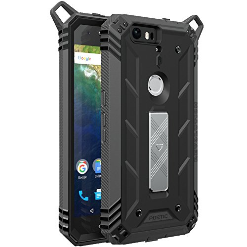 Poetic Revolution Heavy Duty Protection Hybrid Case with Screen Protector for Huawei Nexus 6P (2015 release) Black