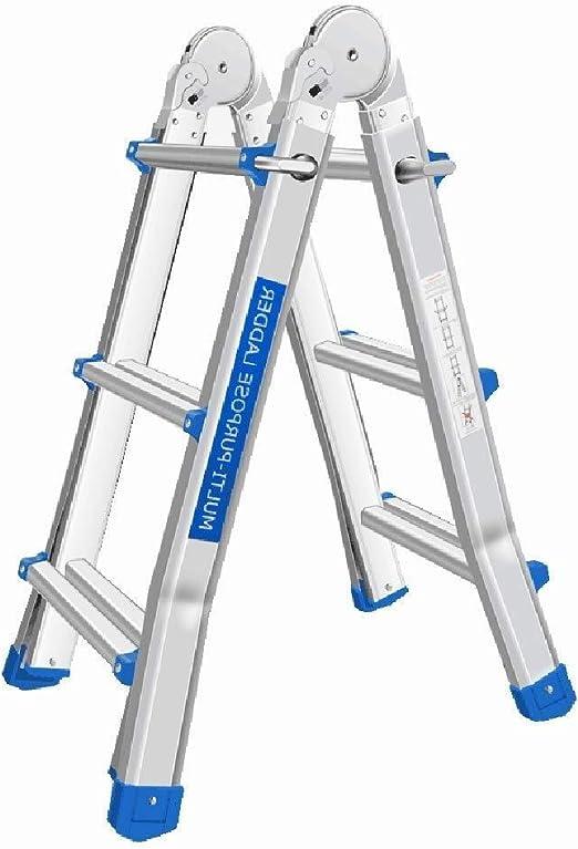 Taburete Escalera Multipropósito Aluminio Tipo Una Escalera Plegable Ligero y Duradero Escalera Recta Escalera 150kg Alta Carga de Peso: Amazon.es: Hogar