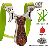 Best Hunting Slingshots - RCZZSUWE Hunting Professional Hunting Slingshot with 2 Bands Review