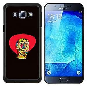 For Samsung Galaxy A8 A8000 Case , Vaquero psicodélico- Diseño Patrón Teléfono Caso Cubierta Case Bumper Duro Protección Case Cover Funda