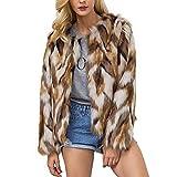 Simcat Womens Winter Warm Colorful Faux Fur Coat Chic Jacket Cardigan Outerwear Tops Party Club Cocktail (XXXL=US XXL)