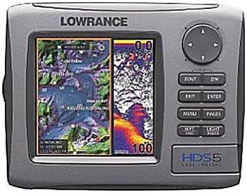 Lowrance HDS-5 - GPS Marino con Plotter y fatómetro: Amazon.es: Deportes y aire libre