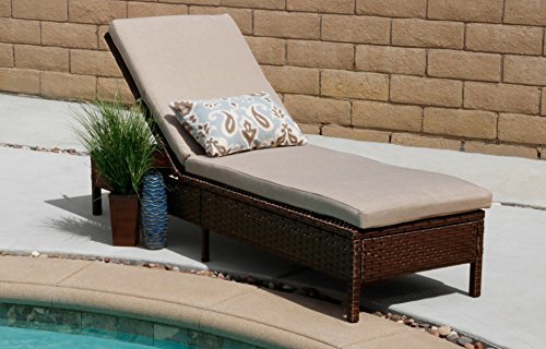 Innovex OD901RAB Vera Outdoor Lounge Chair Patio Furniture, Large, Auburn