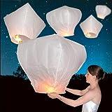 50 PCS Sky Lanterns Wishing Lantern - White