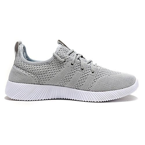 Meeshine Mujeres Y Hombres Zapatos Deportivos Ocasionales Ligeros Y Transpirables Zapatillas De Moda Zapatos Para Caminar Gris