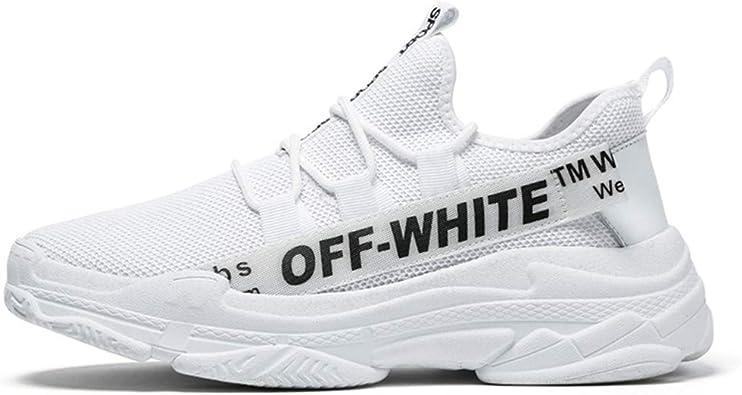 Super Explosion - Zapatillas Deportivas para Hombre, Transpirables, Ligeras, para Correr, Entrenamiento, Tenis y Gimnasio, Color Blanco (48/14 D (M): Amazon.es: Zapatos y complementos
