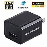 HD 1080P Camera USB Wall Plug Charger Adapter 32GB Internal Memory Spy Hidden Camera Recorder
