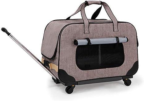 PETEMOO Transportín Plegable para Mascotas con Ruedas extraíbles ...