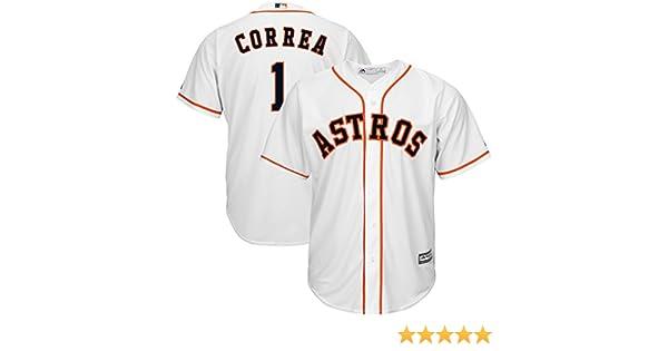 86ca85ff0 Amazon.com  Majestic Carlos Correa Houston Astros MLB Youth White Home Cool  Base Replica Jersey  Clothing
