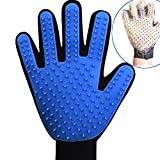 Pet Grooming Gloves, Pet Hair Remover Mitt, Pet Deshedding Brush Gloves, Perfect for Dog & Cat with Long & Short Fur-Right Hand