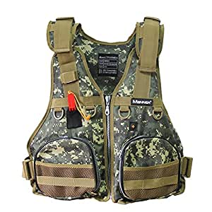 Life safety jacket manner multi outdoor for Fishing vest amazon
