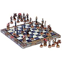 Amazing Dragon Crest Civil War Buff Chess Set NEW North Union South Confederate
