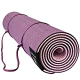 MATYMATS Non Slip TPE Yoga Mat with Carry Strap for Hot Yoga Pilate