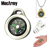 MecArmy CMP Compasses Waterproof Hiking Military Navigation EDC Compass with Chain, Designed for everyday Carry
