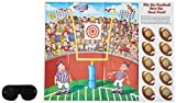 football birthday party games - Pin The Ball Football Game (mask & 10 footballs included) Party Accessory  (1 count) (1/Pkg)