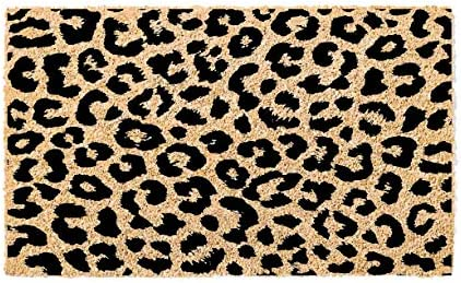 Printed Coir Doormat – Greetings – Flocked Leopard