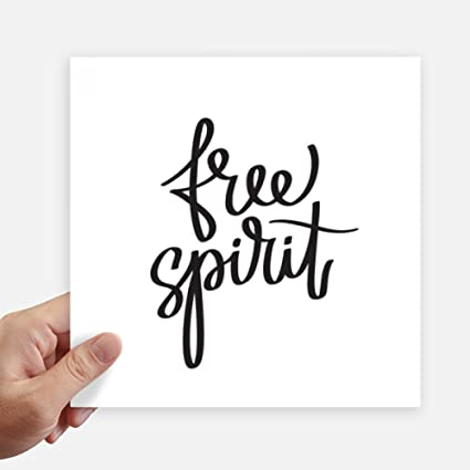 Amazoncom Diythinker Free Spirit Quote Square Stickers 20cm Wall