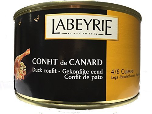 3 x tins of Confit of duck/confit de canard Labeyrie 4/6 legs, BEST BRAND, FREE DELIVERY !!!