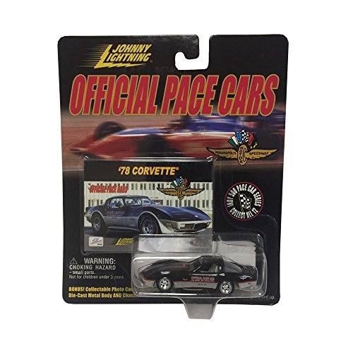 Johnny Lightning Official Pace Cars Chevrolet 1978 Corvette Indianapolis Motor Speedway Black Diecast Metal Car (1978 Corvette Pace Car)