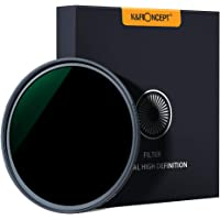 K&F Concept 58MM Neutral Density Lens Filter 10 Stops ND 1000 Filter HD 18 Layer Neutral Grey ND Lens Filter with Multi-Resistant Nano Coating