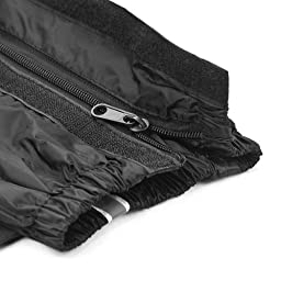 Double Sealed Zippered Waterproof Motorcycle Gear Rain Shoe Boot Cover Size US 10-11