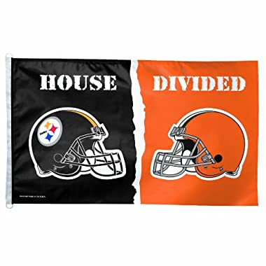 NFL Pittsburgh Steelers vs. Cleveland Browns 3/5-Foot Flag, House Divided