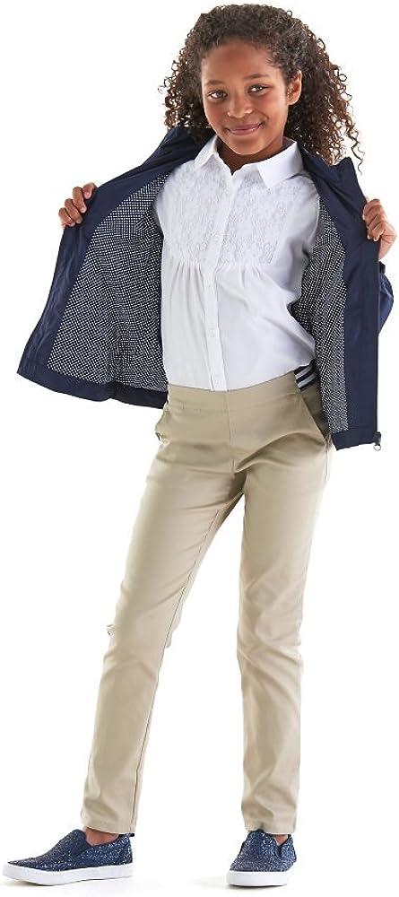 Khaki 12 Plus French Toast Girls Size Stretch Contrast Elastic Waist Pull-on Pant