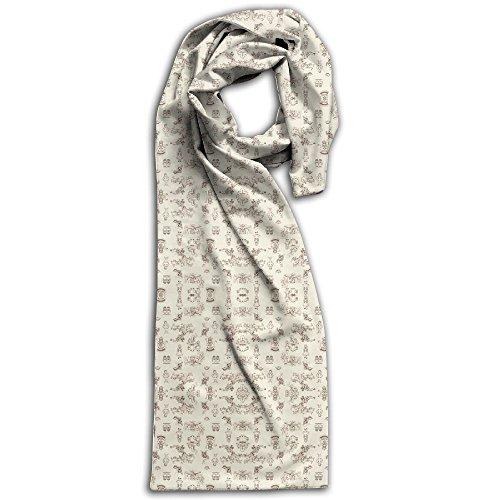 Alice In Wonderland Toile Wallpaper - Mytinystar - Spoonflower(4) Winter Scarves Lightweight Warm Towel Stylish Shawl Scarf - Men Burberry Hat