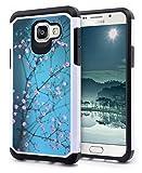 Galaxy A5 2016 Case, NageBee Design Premium [Heavy Duty] Defender [Dual Layer] Protector Hybrid Case for Samsung Galaxy A5 (2016) (Hybrid Plum Blossom)