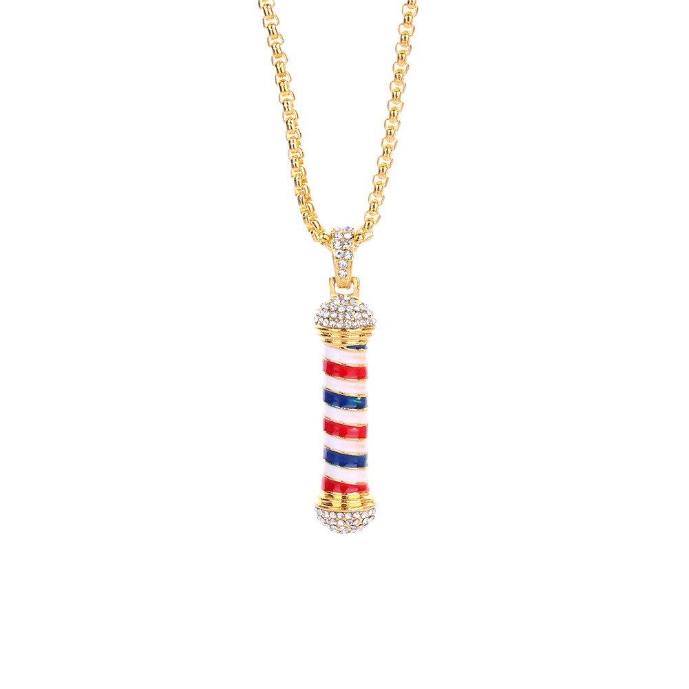 Lureme Fashion Hair Stylist Hairdresser Turn Light Pendant Necklace (nl005875) Yida nl005875-2