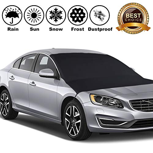 GDAUTO Windshield Snow Ice Cover Sunshade Cover Windshield Cover Sun Frost Shade Protector Guard in Winter and Summer for Cars Autos SUVs Vans
