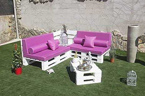 Palets Talavera SL 🏡Conjunto 2 Sofas Palet Europeo + 1 Mesa Interior/Exterior - Nuevo A ESTRENAR-Natural🏡